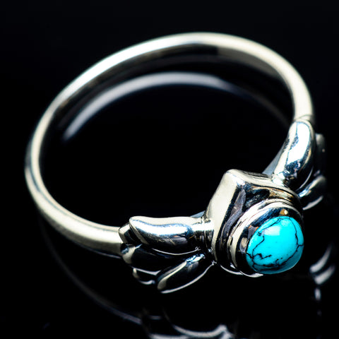Blue Copper Composite Turquoise Rings handcrafted by Ana Silver Co - RING23823