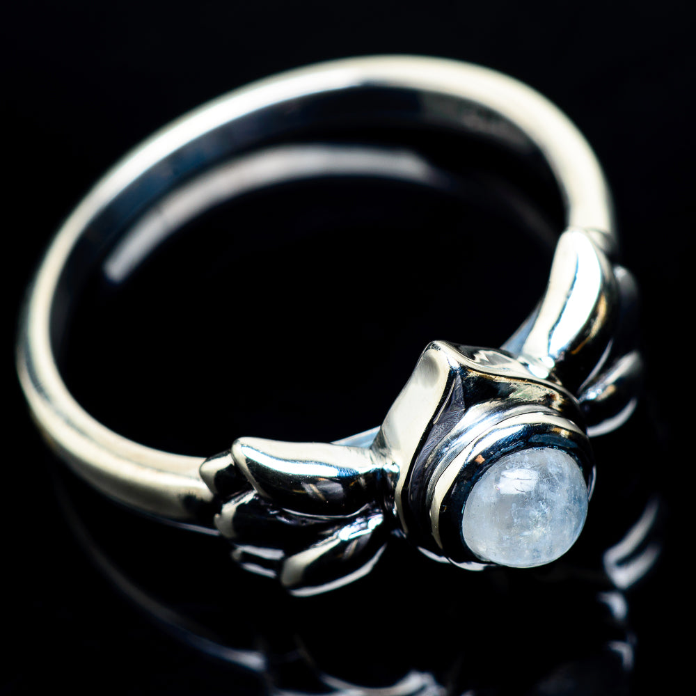 Rainbow Moonstone Rings handcrafted by Ana Silver Co - RING23843