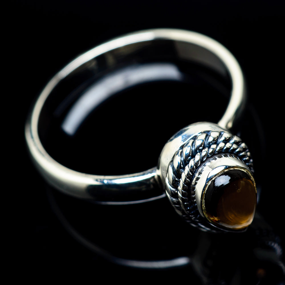 Smoky Quartz Rings handcrafted by Ana Silver Co - RING23894