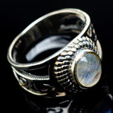 Rainbow Moonstone Rings handcrafted by Ana Silver Co - RING23933