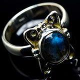Labradorite Rings handcrafted by Ana Silver Co - RING23938