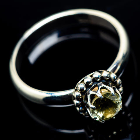 Lemon Quartz Rings handcrafted by Ana Silver Co - RING23959