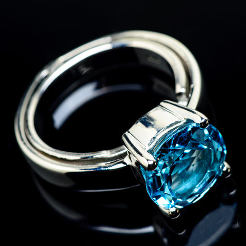 Blue Topaz Rings handcrafted by Ana Silver Co - RING23960