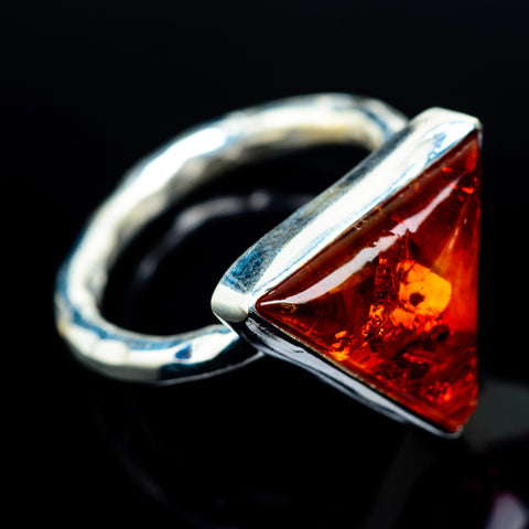 Baltic Amber Rings handcrafted by Ana Silver Co - RING23971