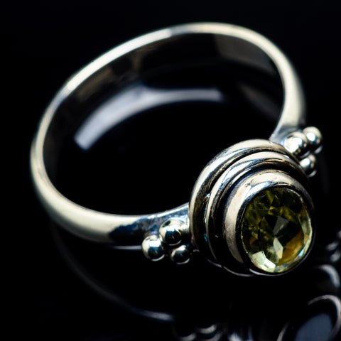 Lemon Quartz Rings handcrafted by Ana Silver Co - RING23985