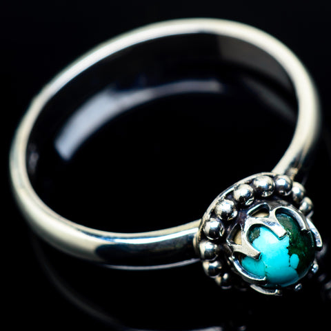 Tibetan Turquoise Rings handcrafted by Ana Silver Co - RING24013