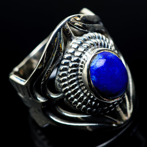 Lapis Lazuli Rings handcrafted by Ana Silver Co - RING24015