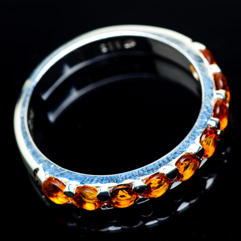 Mandarin Citrine Rings handcrafted by Ana Silver Co - RING24039