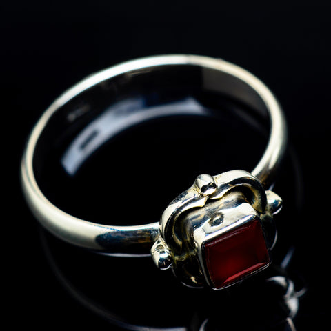 Red Onyx Rings handcrafted by Ana Silver Co - RING24077