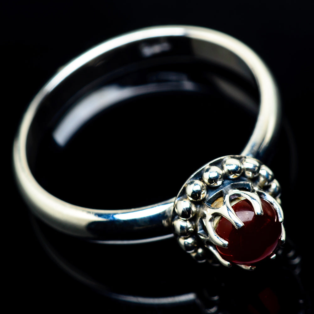 Red Onyx Rings handcrafted by Ana Silver Co - RING24079