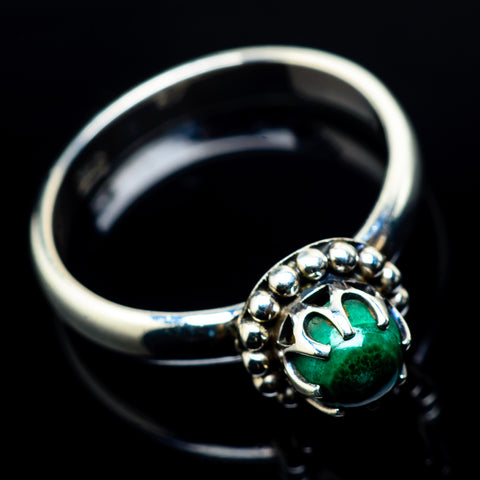 Malachite Rings handcrafted by Ana Silver Co - RING24100