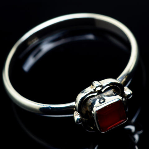 Red Onyx Rings handcrafted by Ana Silver Co - RING24107