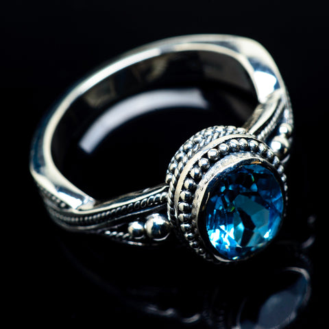 Blue Topaz Rings handcrafted by Ana Silver Co - RING24122