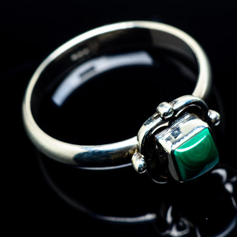 Malachite Rings handcrafted by Ana Silver Co - RING24129