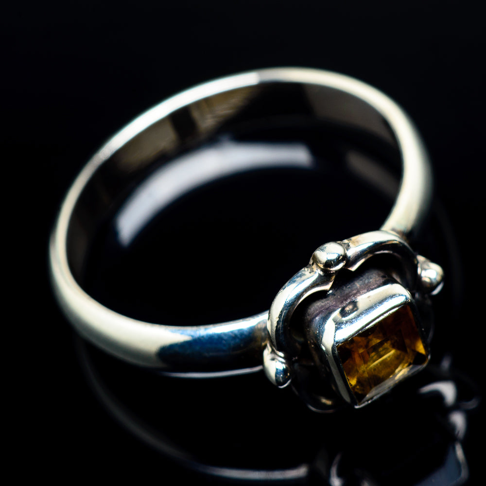 Mandarin Citrine Rings handcrafted by Ana Silver Co - RING24138