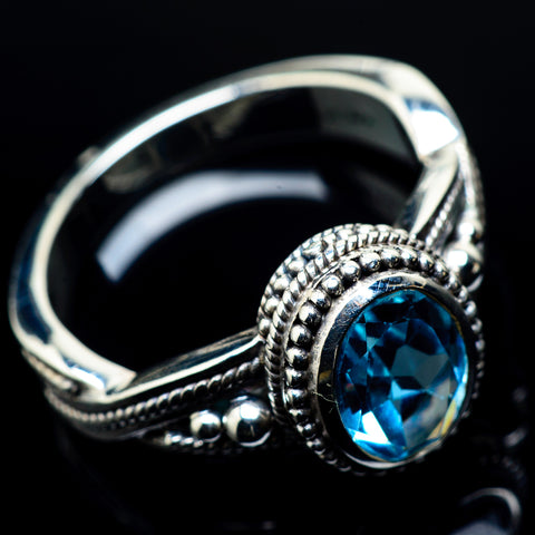 Blue Topaz Rings handcrafted by Ana Silver Co - RING24158