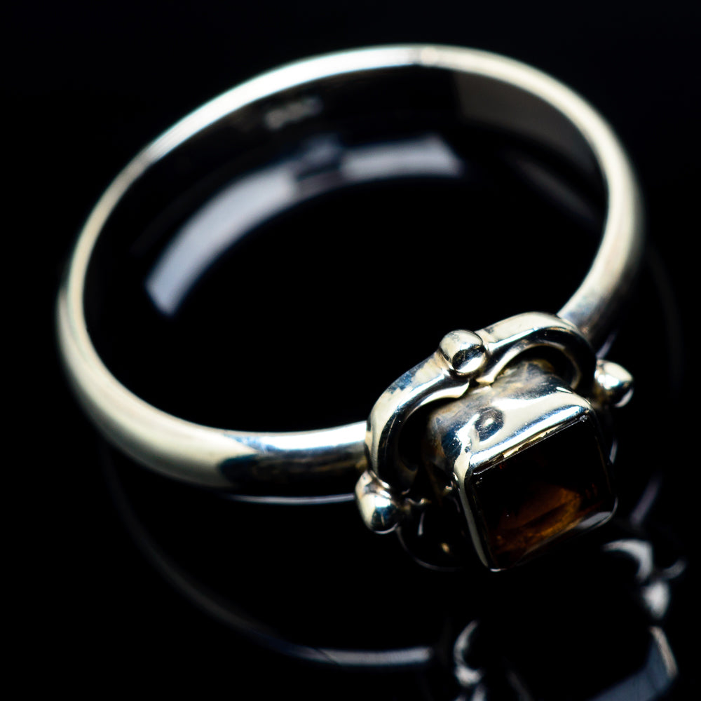 Smoky Quartz Rings handcrafted by Ana Silver Co - RING24165