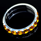 Mandarin Citrine Rings handcrafted by Ana Silver Co - RING24167