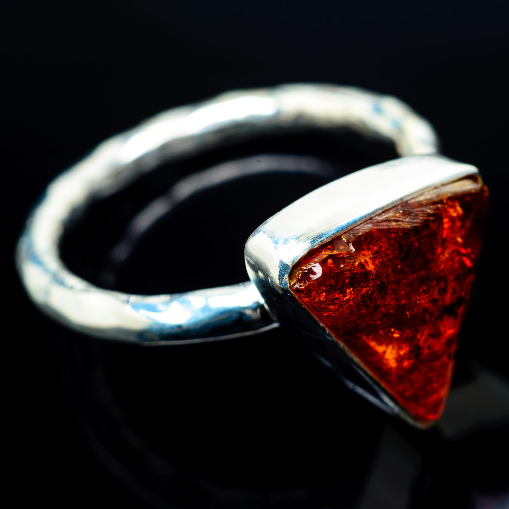 Baltic Amber Rings handcrafted by Ana Silver Co - RING24169