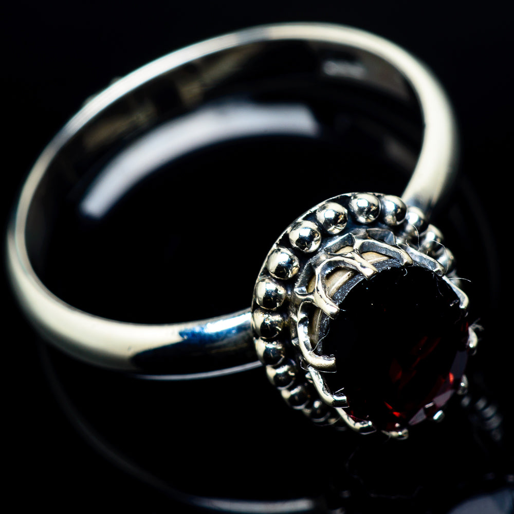 Garnet Rings handcrafted by Ana Silver Co - RING24171