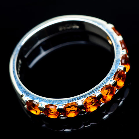 Mandarin Citrine Rings handcrafted by Ana Silver Co - RING24188