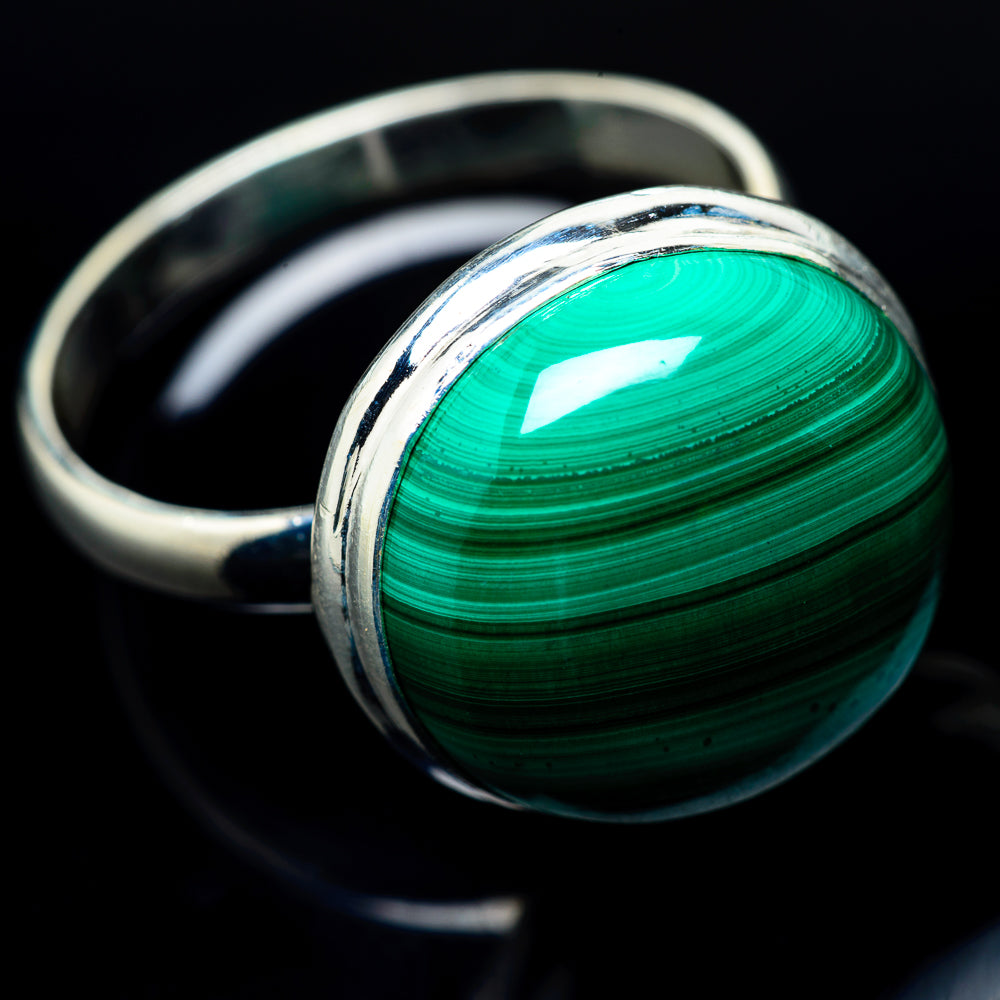 Malachite Rings handcrafted by Ana Silver Co - RING24285
