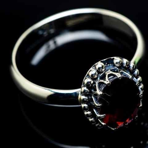 Garnet Rings handcrafted by Ana Silver Co - RING24414