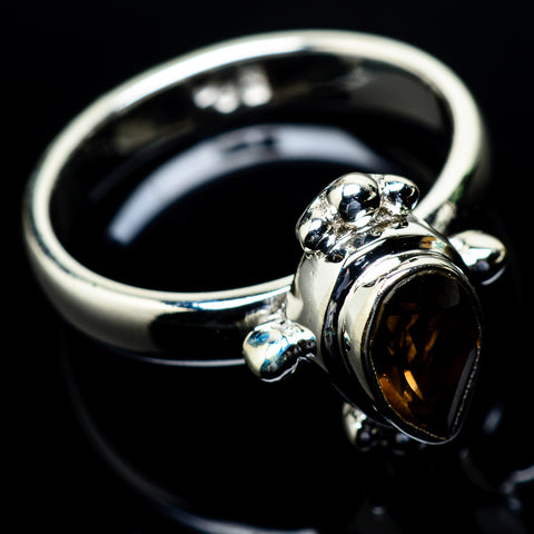 Smoky Quartz Rings handcrafted by Ana Silver Co - RING24461