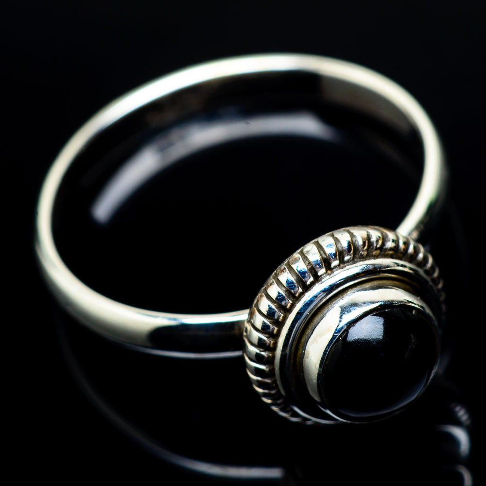 Black Onyx Rings handcrafted by Ana Silver Co - RING24473