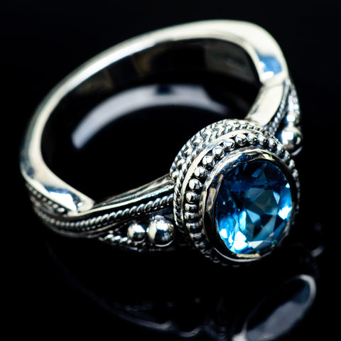 Blue Topaz Rings handcrafted by Ana Silver Co - RING24484