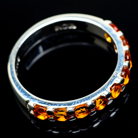 Mandarin Citrine Rings handcrafted by Ana Silver Co - RING24489