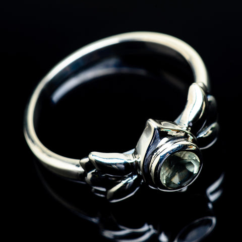 Green Amethyst Rings handcrafted by Ana Silver Co - RING24502