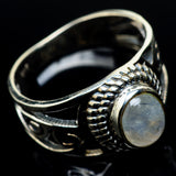 Rainbow Moonstone Rings handcrafted by Ana Silver Co - RING24608
