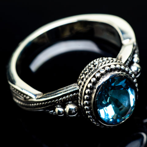 Blue Topaz Rings handcrafted by Ana Silver Co - RING24615