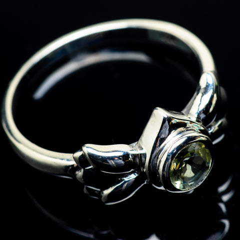 Green Amethyst Rings handcrafted by Ana Silver Co - RING24636