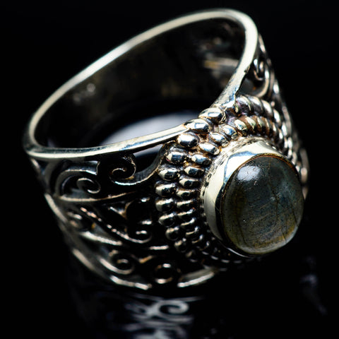 Labradorite Rings handcrafted by Ana Silver Co - RING24687