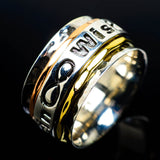 Meditation Spinner Rings handcrafted by Ana Silver Co - RING24706