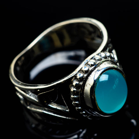 Aqua Chalcedony Rings handcrafted by Ana Silver Co - RING24776