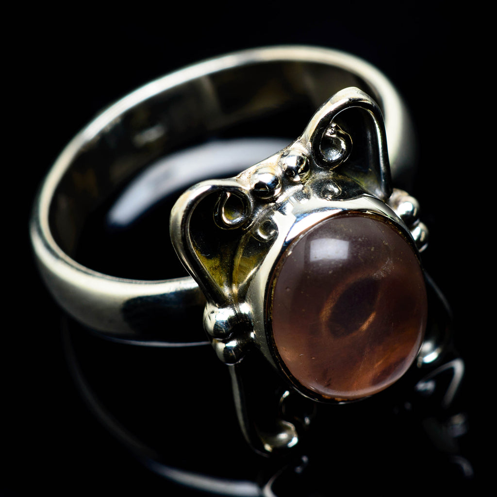 Rose Quartz Rings handcrafted by Ana Silver Co - RING24791