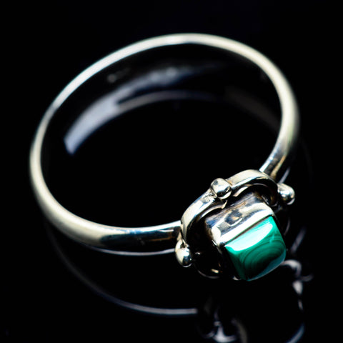 Malachite Rings handcrafted by Ana Silver Co - RING24813