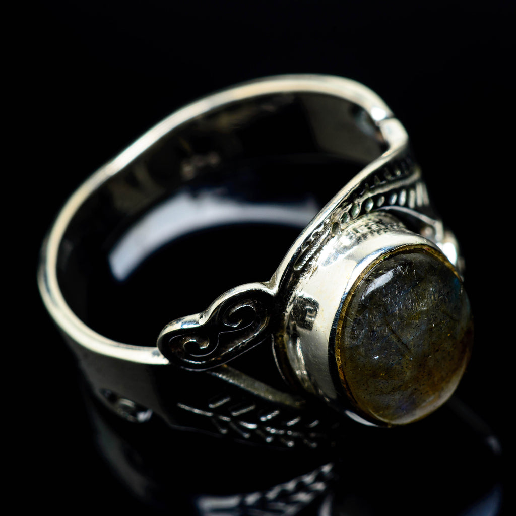 Labradorite Rings handcrafted by Ana Silver Co - RING24895
