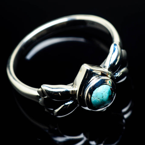 Tibetan Turquoise Rings handcrafted by Ana Silver Co - RING24922