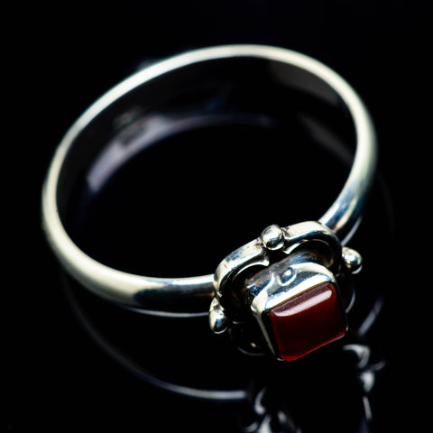 Red Onyx Rings handcrafted by Ana Silver Co - RING25014