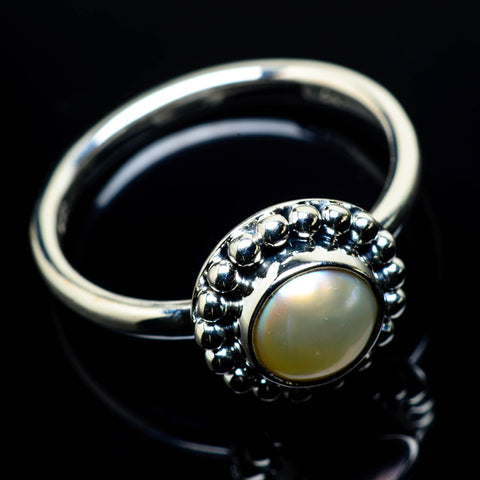 Cultured Pearl Rings handcrafted by Ana Silver Co - RING25023