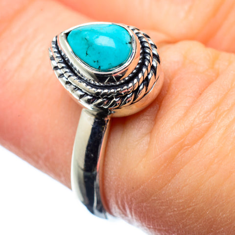 Tibetan Turquoise Rings handcrafted by Ana Silver Co - RING25090