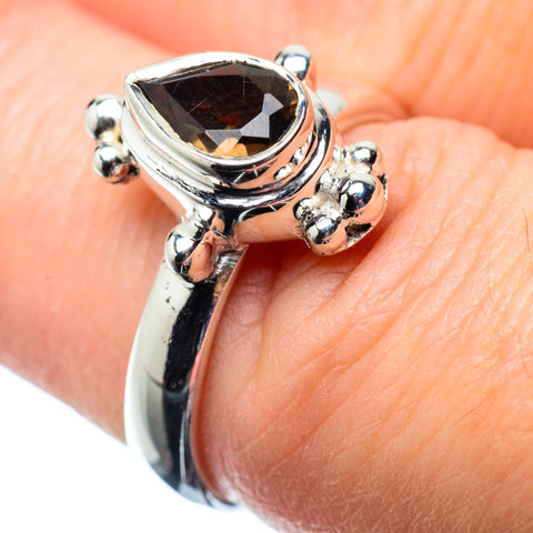 Smoky Quartz Rings handcrafted by Ana Silver Co - RING25096