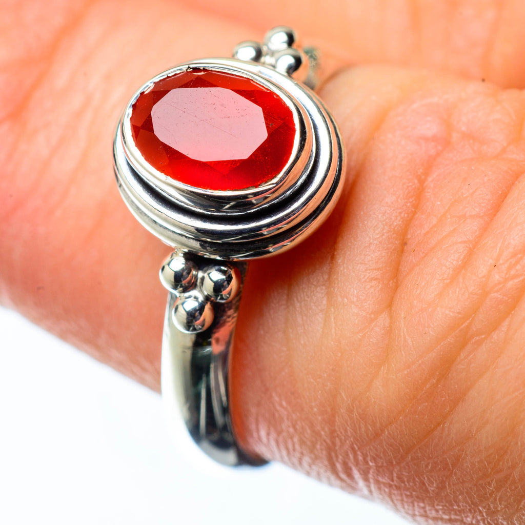 Red Onyx Rings handcrafted by Ana Silver Co - RING25126