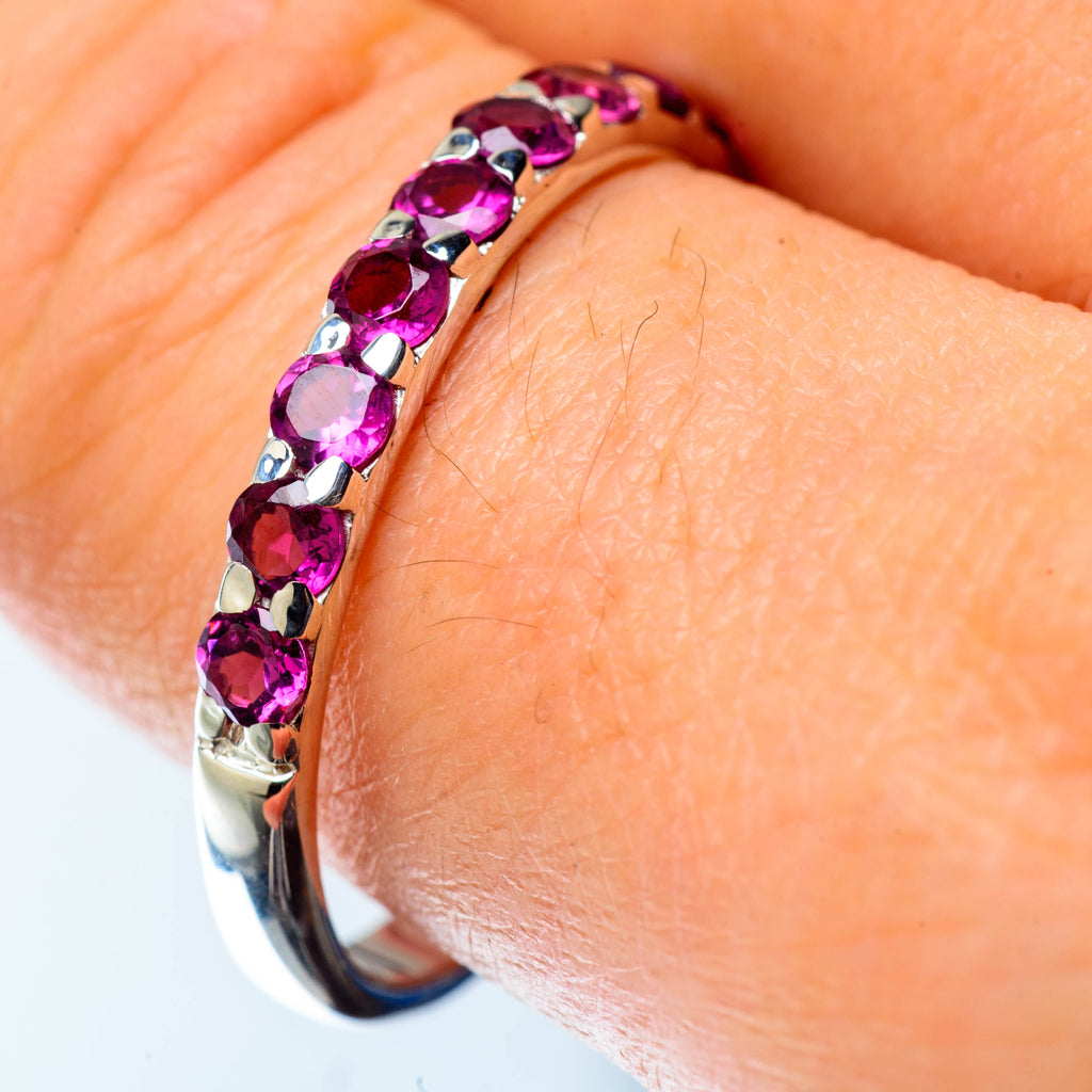 Pink Tourmaline Rings handcrafted by Ana Silver Co - RING25128