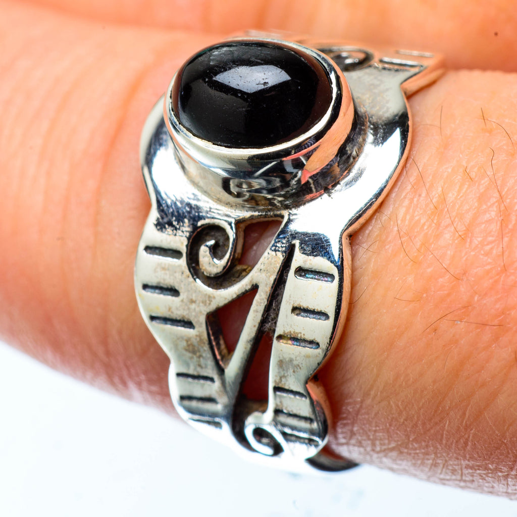 Black Onyx Rings handcrafted by Ana Silver Co - RING25137
