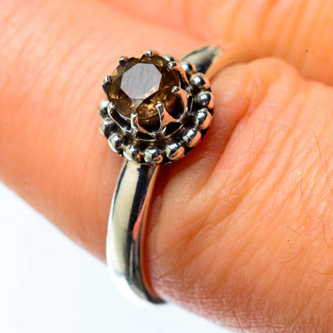 Smoky Quartz Rings handcrafted by Ana Silver Co - RING25151